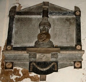 The memorial to John Gilbert Cooper