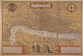 A contemporary map of Shakespeare's London