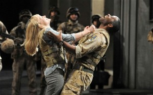 Desdemona and Othello in the National Theatre's production