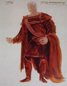 Desmond Heeley's design for Laurence Olivier as Titus