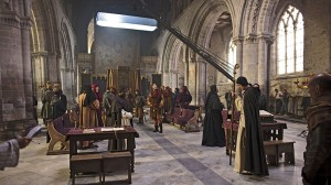 Filming The Hollow Crown in St David's Cathedral