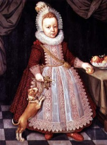 Portrait of a child with a rattle