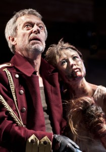 Stephen Boxer (Titus Andronicus) and Rose Reynolds (Lavinia) Photographer Simon Annand