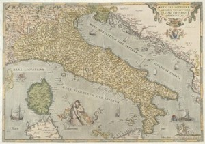 Map of Italy dated 1579