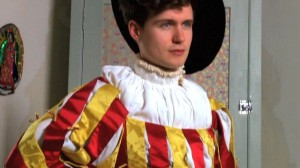 A reconstruction of one of Schwarz's costumes