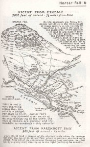 One of Alfred Wainwright's Lake District maps