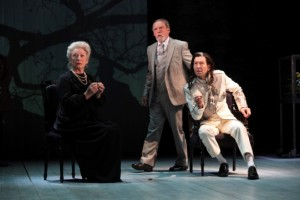 Charlotte Cornwell as the Countess, David Fielder as Lafeu, Greg Hicks as the King
