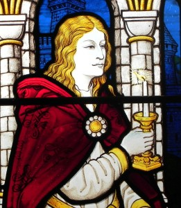 Close-up of window, Achurch as Lady Macbeth sleepwalking