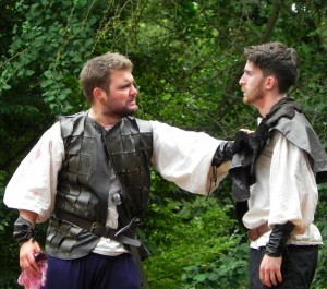 Kiel O'Shea as Macduff and David Bevan as Malcolm in TitanRep's production
