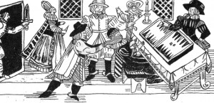 Woodcut of the murder of Thomas Arden