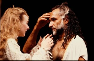 Niamh Cusack as Desdemona, Ben Kingsley as Othello, RSC 1985