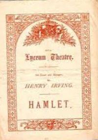 irving hamlet programme