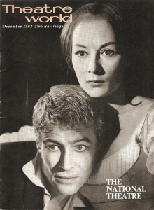 Peter O'Toole and Rosemary Harris in the National Theatre's 1963 Hamlet