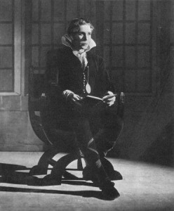 Donald Wolfit as Hamlet, Shakespeare Memorial Theatre, 1936-7