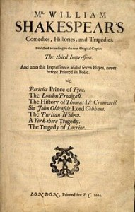 Title page of the Third Folio
