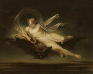 Henry Singleton.  Ariel on a bat's back 1819, Tate Britain.   N01027