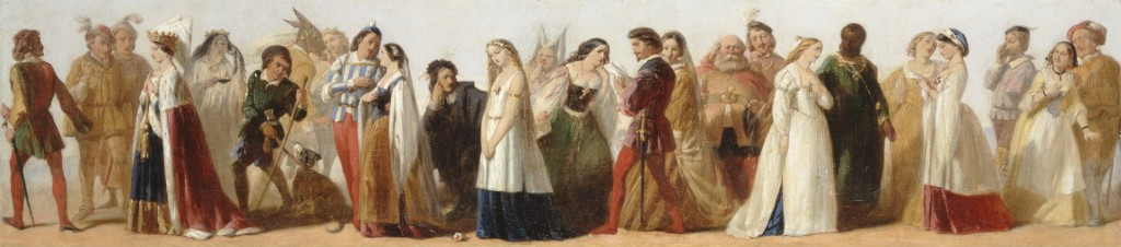 Procession of Characters from Shakespeare's plays, c 1840. Formerly attributed to Daniel Maclise. Yale Center for British Art, Paul Mellon Fund. DPLA http://search.openlibrary.artstor.org/object/AYCBAIG_10313604220