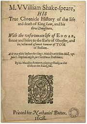 The Pavier Quarto of King Lear