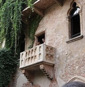 Juliet's supposed balcony in Verona