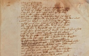 The Sir Thomas More manuscript, kept at the British Library