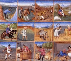 15th century agricultural calendar