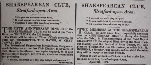 The 1829 advertisements for rival celebrations