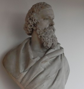 The bust of George Dawson that stands in the Library of Birmingham