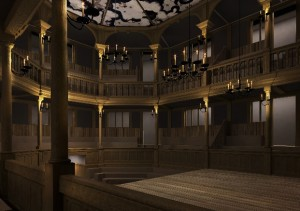 CGI model of the Sam Wanamaker Playhouse