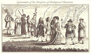 Continuation of the Procession of Shakespear's Characters [London, 1769].  From the collections of the Lewis Walpole Library, Yale University.