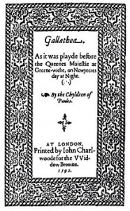 The title page of Galathea
