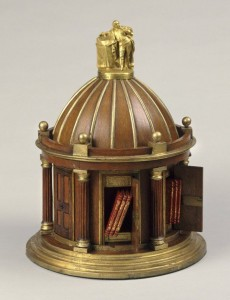 The wooden model of Garrick's Temple to Shakespeare, at the Folger Shakespeare Library