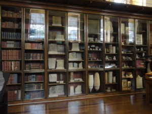 some of the wall-cases in the Enlightenment Gallery at the British Museum