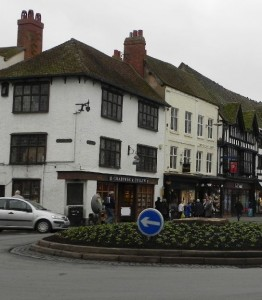 The corner showing Judith Quiney's house in Stratford