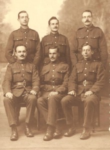 George Harriss, front row centre, taken while on service in France