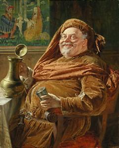 Eduard von Grützner: Falstaff, 1896