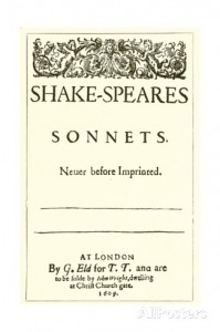 The 1609 Sonnets title page