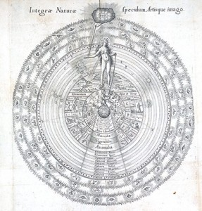 Great Chain of Being (Utriusque Cosmi Majoris Scilicet et Minoris ... by Robert Fludd; Frankfurt, 1617).