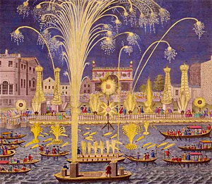 Fireworks on the Thames 1749
