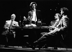 Antonio, Gratiano, Lorenzo and Bassanio in the 1993 RSC production of The Merchant of Venice