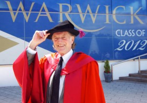 David Bradley receiving his Doctorate from he University of Warwick, 2012