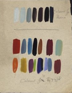 Colour palette for Antony and Cleopatra, 1953