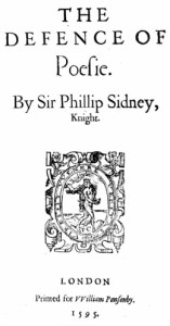 Sir Philip Sidney's In Defense of Poery