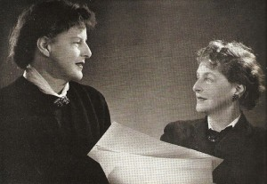 Margaret and Sophia Harris: Two-thirds of the Motley design team, in 1955.