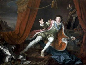 Hogarth's painting of Garrick as Richard III