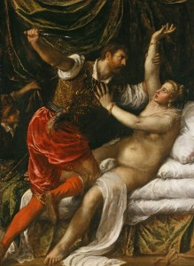 Tarquin and Lucretia by Titian, 1571