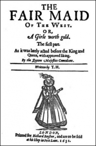 Title page for The Fair Maid of the West