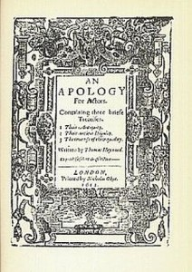 Title page of An Apology for Actors