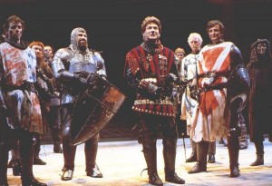 A scene from the 1984 Henry V with Kenneth Branagh