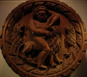 Stirling heads: Hercules and the Nemean lion