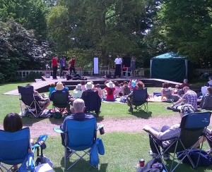 CL Rep Company performing their version of Hamlet in the Dell